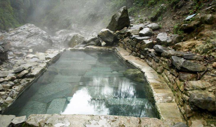 Natural hot spring pool